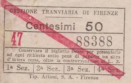 ** GESTIONE TRANVIARIA DI FIRENZE.-** - Europa