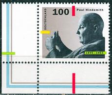A14-08-5) BRD - Mi 1827 ECKE LIU - ** Postfrisch (A) - 100Pf  Paul Hindemith - Unused Stamps
