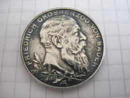 Baden 2 Mark 1902 - 2, 3 & 5 Mark Argento