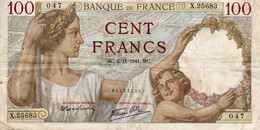 FRANCE 100 FRANCS 1941.MC.   P-94 - 100 F 1939-1942 ''Sully''