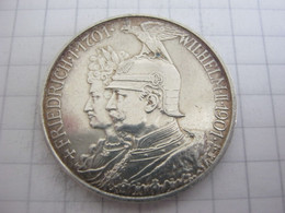 Prussia 2 Mark 1901 (200th Anniversary - Kingdom Of Prussia) - 2, 3 & 5 Mark Argento