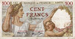 FRANCE 100 FRANCS 1941.OG.   P-94 - 100 F 1939-1942 ''Sully''