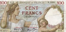 FRANCE 100 FRANCS 1941.RA.   P-94 XF - 100 F 1939-1942 ''Sully''