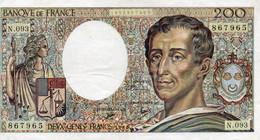 FRANCIA 200 FRANCS 1990  P-155  XF+++ - 200 F 1981-1994 ''Montesquieu''