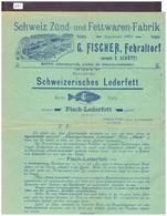 FEHRALTORF - G. FISCHER - ZÜND UND FETTWAREN FABRIK - TB - Schweiz