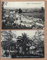 Conjunto De 2 Postais Antigos De ANADIA (Aveiro): Vista De Arcos + Solar Do Conselheiro José Luciano Castro PORTUGAL - Aveiro