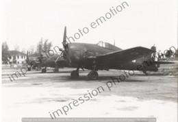 PHOTO AVION  GROUPE D AVION GRUMMAN F6F-5  Hellcat - Aviación