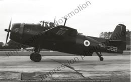 PHOTO AVION  Grumman Avenger ROYAL NAVY X8356 362  RETIRAGE REPRINT - Aviación