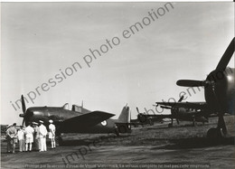 PHOTO AVION     Grumman F6F Hellcat, Normandie-Niemen, Indochine 1951  RETIRAGE REPRINT - Aviación