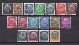 Deutsches Reich - 1933/36 - Michel Nr. 512/528 - Gestempelt - Used Stamps