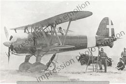 PHOTO AVION      FIAT CR 42 CHASSEUR DE NUIT 1941   RETIRAGE REPRINT - Aviación