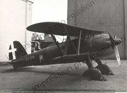 PHOTO AVION       FIAT CR 42 EX MM-5701 BIGGIN HILL 966 ITALIEN ITALY   RETIRAGE REPRINT - Aviación