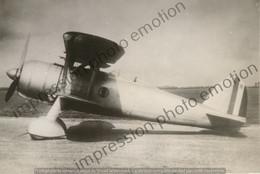 PHOTO AVION       FIAT CR 42  RETIRAGE REPRINT - Aviación