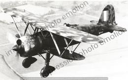 PHOTO AVION        Fiat CR.42 Capturé En Essais à Duxford  RETIRAGE REPRINT - Aviación