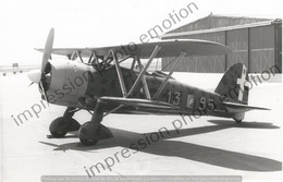 PHOTO AVION      FIAT CR42 DE LA 85° SQUADRIGHIER DU 18°GROUPE DU CAI FRECCIA  RETIRAGE REPRINT - Aviación