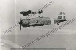 PHOTO AVION    Fiat G.50, Au Second Plan Un Messerschmitt Bf 110   RETIRAGE REPRINT - Aviación