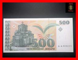 MACEDONIA 500 Denari 1993  P. 13  * Low Serial AA * UNC - Macedonië