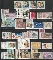 1975. ** Edifil: 2232/2305. AÑO COMPLETO. Incluye Tarjetas Entero Postales - 1971-80 Ungebraucht