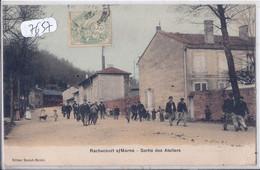 RACHECOURT-SUR-MARNE- SORTIE DES ATELIERS- COLORISEE- RARE - Other Municipalities