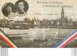 WW La Belgique ANVERS Hommage De La France à L'Héroïsme En 1914 Roi Et Reine - Sonstige