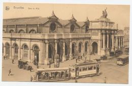 Bruxelles - Gare Du Midi + Trams - Chemins De Fer, Gares