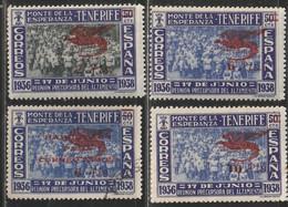 1939. * Edifil: CANARIAS 58/61 - 1931-50 Ongebruikt