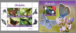 GUINEA BISSAU 2020 MNH Butterflies Schmetterlinge Papillons M/S+S/S - OFFICIAL ISSUE - DHQ2046 - Butterflies