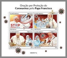 GUINEA BISSAU 2020 MNH Coronavirus Covid-19 Pope Francis M/S - OFFICIAL ISSUE - DHQ2046 - Enfermedades