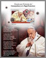 GUINEA BISSAU 2020 MNH Coronavirus Covid-19 Pope Francis S/S - OFFICIAL ISSUE - DHQ2046 - Enfermedades