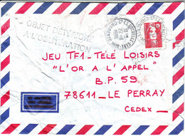 Tampon  OBJET DETERIORE A L' OBLITERATION Postal , Lettre 1991 - 1961-....