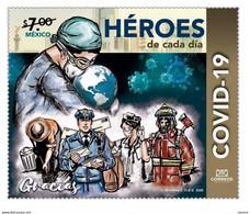 2020 MÉXICO  Héroes De Cada Día COVID 19, STAMP MNH Everyday Heroes COVID 19 - Mexiko