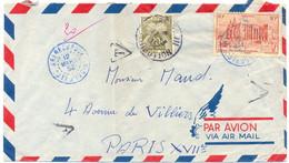 LETTRE COTE D'IVOIRE TàD BLEU ABENGOUROU Du 12 MARS 52 – TAXÉE à PARIS XVII 20 F. - 1859-1955 Cartas