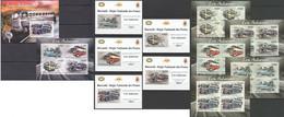 A971 IMPERFORATE 2012 BURUNDI TRANSPORT CARS AUTOCARS 6BL+6KB MNH - Auto's