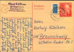 1949, 20 Pfg. 1. Bundestag Mit Viel  Text In Deutschland Bedarfsgebraucht Ab REGENSBURG 13.9.49 - Cartoline - Usati