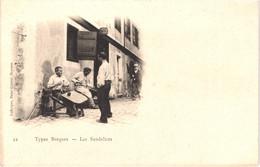 FR64 TYPES BASQUE - Laforgue 22 - Précurseur - Les Sandales - Fabricants D' Espadrilles - Animée - Belle - Sauveterre De Bearn