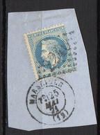 FRANCE ( OBLITERATION LOSANGE )  GC  2240  Marseille  Bouches-du-Rhone   COTE  1.00 , A  SAISIR . TIR - 1849-1876: Période Classique