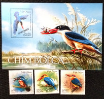 Vietnam Viet Nam MNH Specimen Stamps & Souvenir Sheet Issued On 14th Of Nov 2020 : Kingfisher Bird / Birds (Ms1135) - Vietnam