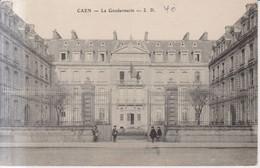 Caen La Gendarmerie Carte Postale Animee  1905 - Caen
