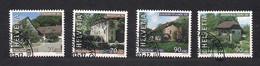 Suisse Schweiz Switzerland 2002 Yvertn° 1714-17 (0) Oblitéré Cote 8,50 € Pour La Patrie Pro Patria Moulins à Eau - Used Stamps
