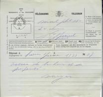 Ancien Télégramme Envoyé De Haine-St-Pierre Vers Jolimont Haine-St-Paul Le 1/8/1936 - Telégrafo