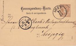 AUTRICHE 1887  ENTIER POSTAL/GANZSACHE/POSTAL STATIONARY CARTE DE IMST - Stamped Stationery