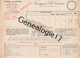 76 1554 FERRIERES EN BRAY SEINE MARITIME 1918 Fromagerie FROMAGERIES CH. GERVAIS Gare D GOURNAY EN BRAY A HERAIL Castres - 1900 – 1949