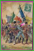 CPA - Guerre LES ALLIES CONTRE LES BARBARES - Carte Publicitaire Pour La Bougie EYQUEM - écrite  Oblitéré 1916 - Advertising