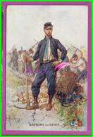 CPA - Guerre SAPEURS DU GENIE  - Carte Publicitaire Pour La Bougie EYQUEM - écrite  Oblitéré 1917 - Advertising