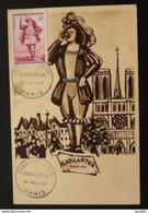 France Carte Maximum Maximum Card Gargantua Rabelais 1953 - 1950-59