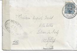 Lettre TP. 141a P.M.B. N° 6 Du 6 Mars 1917 Vers SUISSE + Censure Voir Verso - Army: Belgium