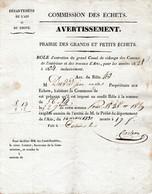 1830 Commission Des ECHETS (MIRIBEL) Départ. De L'AIN & Du RHÔNE - Entretien Du Canal De Vidange Des Canaux De - Historische Documenten
