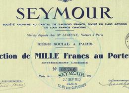 SEYMOUR S. A., Paris - Textil