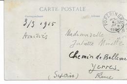 C.P. Du 4/3/1915 De POPERINGHE Vers France Voir Verso. - Not Occupied Zone