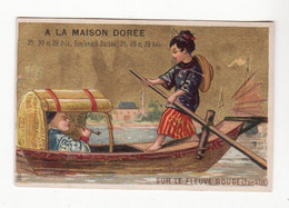 Chromo   A LA MAISON DOREE    Tonkin, Fleuve Rouge     10.1 X 6.6 Cm - Sonstige